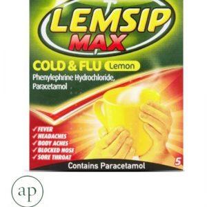 Lemsip Max Cold & Flu Lemon - 5 Sachets