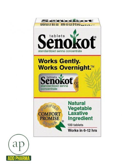 Senokot Standardized Senna Concentrate Tablets 100 Tablets