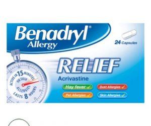 Benadryl Allergy Relief Capsules - 24 Capsules