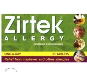 Zirtek Allergy Relief Tablets - 21 Tablets