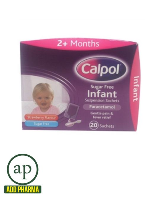 Calpol Sugar Free Infant Suspension Sachets - 20 Sachets