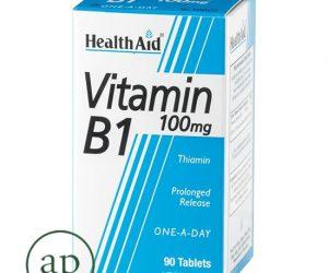 Vitamin B1 100mg (Thiamin) - 90's Tablets