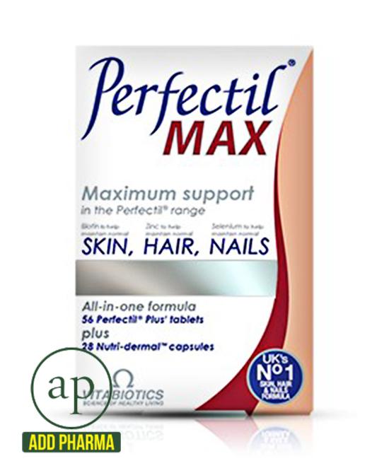 Perfectil Max Maximum Support Skin, Hair and Nails - 84 Tablets(Vitabiotics)