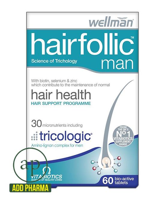 Vitabiotics Wellman Hairfollic Man - 60 Tablets