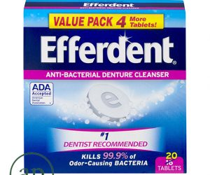 Efferdent Anti-Bacterial Denture Cleanser - 20 Tablets