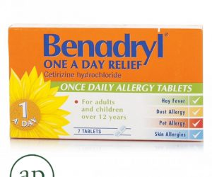 Benadryl One A Day Relief Tablets - 7 Tablets