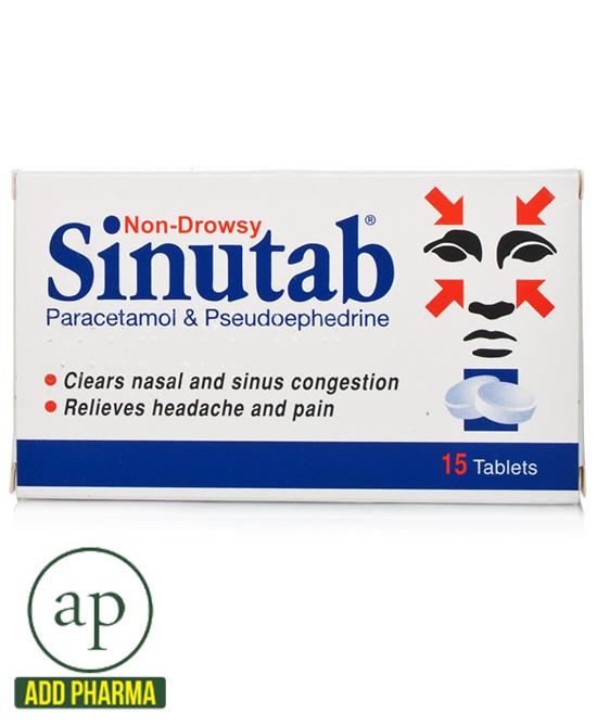 Sinutab Non Drowsy Tablets - 15 Tablets