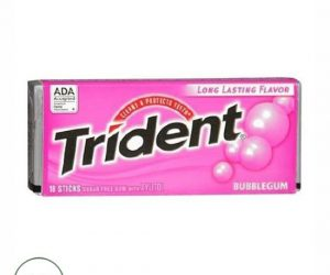 Trident Sugar Free Gum Bubble Gum - 18 sticks