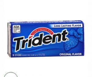 Trident Sugar Free Gum Original - 18 sticks