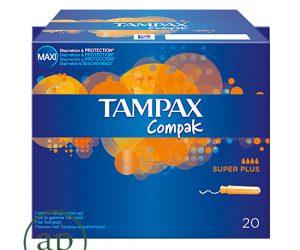 TAMPAX Compak Super Plus applicator tampons - pack of 20