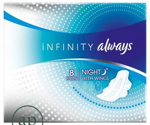 Always Infinity Night with Wings Sanitary Pad - 8 Pack