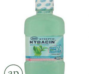 Myseptic Mybacin Breath Four 24hrs Formulation Green Tea & Guava Flavoured Mouthwash - 500ml