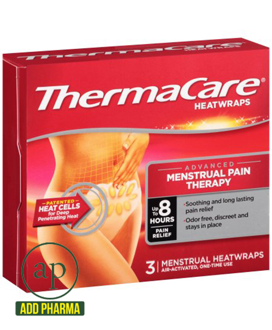 ThermaCare Heatwraps Air-Activated Advanced Menstrual Pain Therapy - Pack of 3 Heatwraps