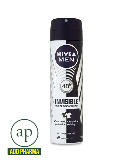Nivea Men Invisible for Black & White 48h Anti-Perspirant - 150ml - AddPharma | Pharmacy in Ghana |