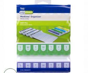 Ezy Dose Easy Fill Medtime Organizer (XL) - 7-Day Multi-Dose Pill Reminder