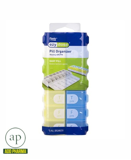 Ezy Dose Easy Fill Weekly Pill Planner - 7-Day Pill Reminder