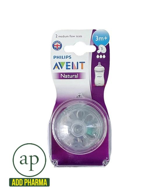 Avent Teat Natural Medium Flow - 3 M