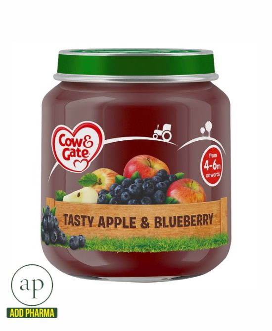 Cow & Gate Stage 1 Apple And Blueberry Jar 4 Mth+ - 125G