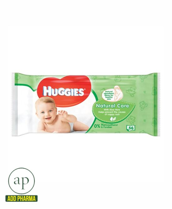 Huggies Baby Wipes Natural Care - 56 wipes