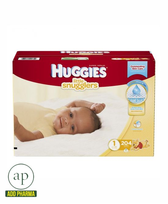 Huggies Little Snugglers Diapers Size 1 - 204 Count