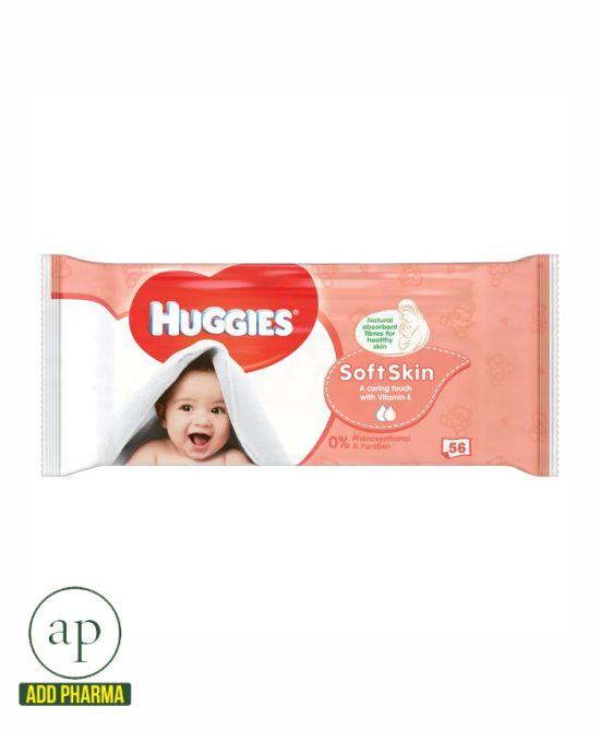 Huggies Wipes Soft Skin - pack of 56
