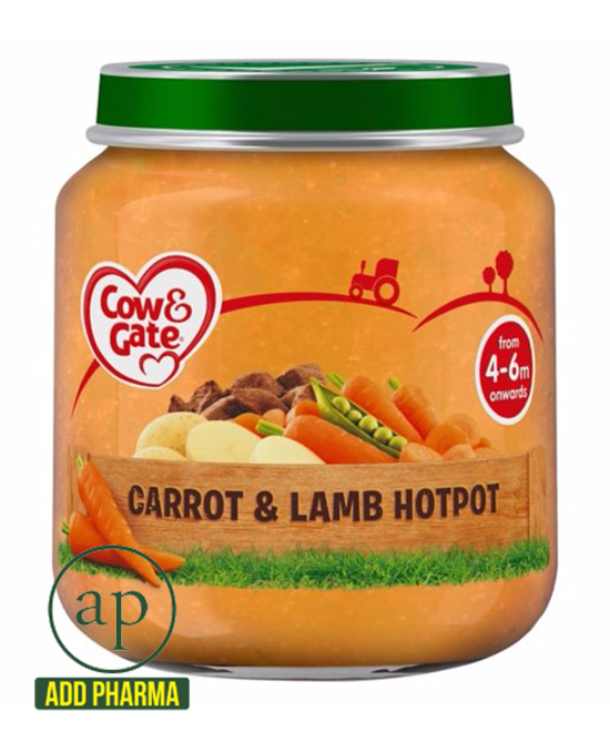 Cow & Gate Carrot And Lamb Hotpot Jar 4 Mth+ - 125G