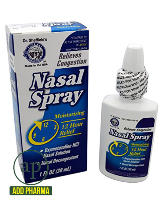 Dr. Sheffield's Oxymetazoline 12-Hour Relief Original Nasal Spray - 1 Fl Oz (30ml)