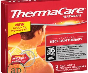 ThermaCare HeatWraps Air-Activated Advanced Neck Pain Therapy Neck, Wrist and Shoulder - Pack of 3 Heatwraps