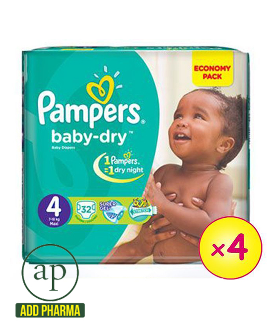 Pampers Baby-Dry Maxi 7-18kg - Economy Pack