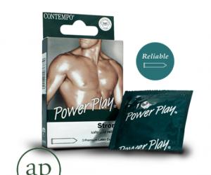 Contempo Power Play - 3 Premium Latex Condoms