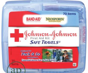 Johnson & Johnson Red Cross Safe Travels First Aid Kit - 70 items