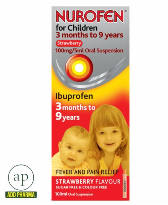 Nurofen Strawberry 3mths to 9yrs - 100ml
