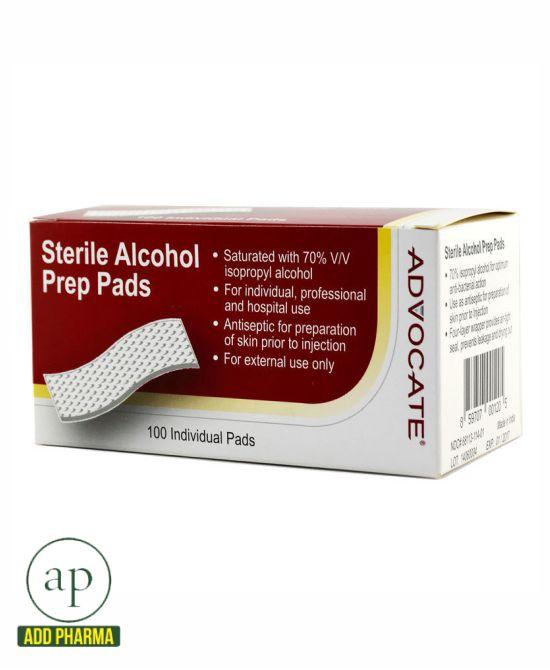 Advocate Sterile Alcohol Prep Pads 100/bx