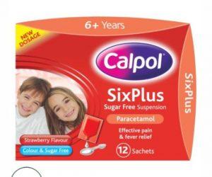 Calpol strawberry flavour 6 years - 12x5ml sachets