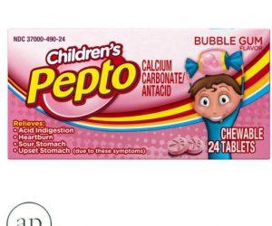 Pepto-Bismol Antacid Chewable Tablets Bubble Gum - 24 chewable tablets