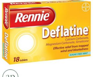 Rennie Deflatine - 18 tablets