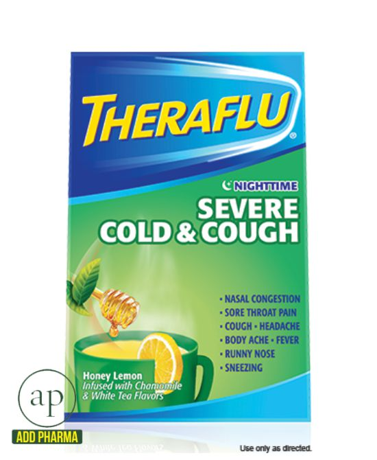Theraflu® Nighttime Severe Cold & Cough - 6 Packets