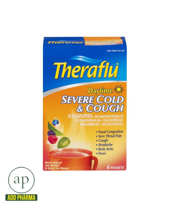 Theraflu Daytime Severe Cold Cough 6 Packets Addpharma
