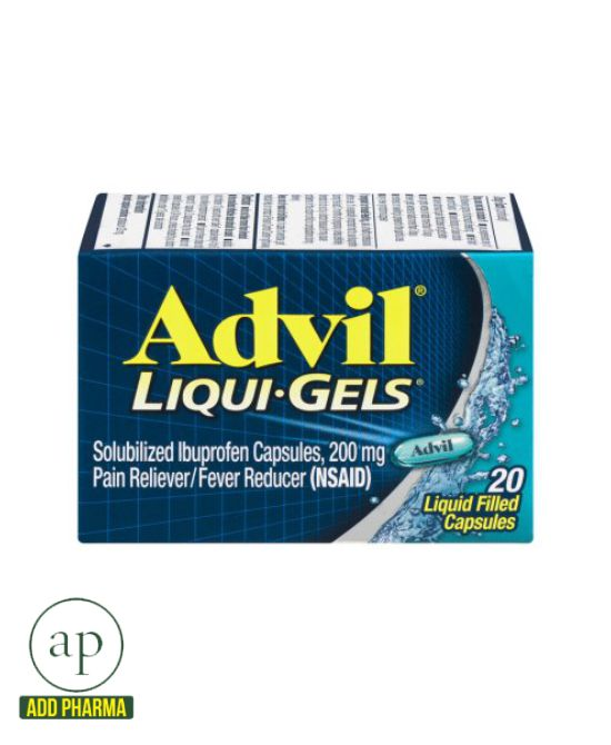 Advil Liqui-Gels (Ibuprofen) - 200mg (20 Caps)