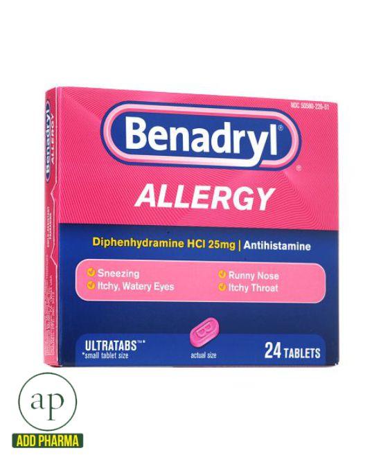 Benadryl Allergy Ultratab - 24 Tablets