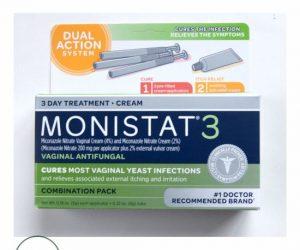 Monistat 3 Vaginal Antifungal 3-Day Treatment Combination Pack