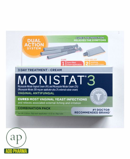 Monistat 3 Vaginal Anti Fungal 3 Day Treatment Combination Pack