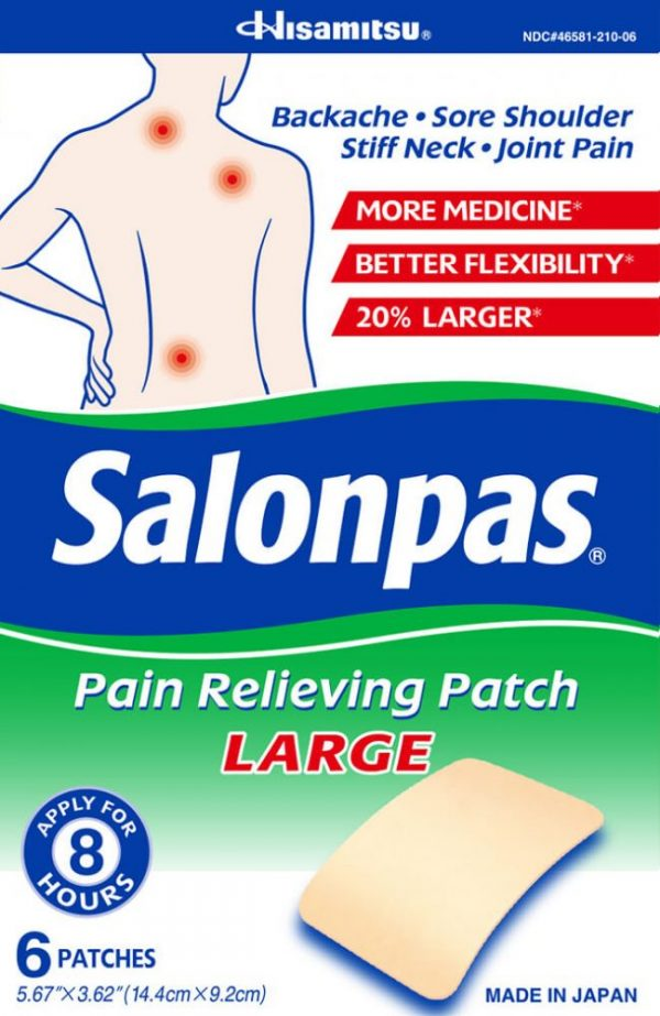 Salonpas® Pain Relieving Patch LARGE - 6 Patches
