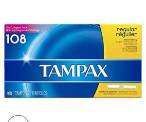 Tampax Regular Unscented - 108 Tampons