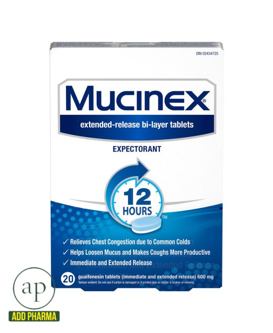 Mucinex® 12-Hour Expectorant - 20 Tablets