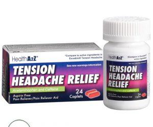 HealthA2Z Tension Headache Relief - 24 Caplets