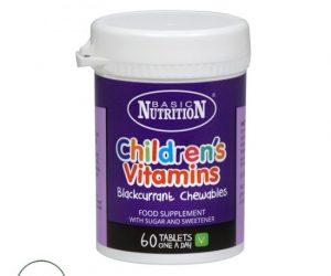 Basic Nutrition Childrens Vitamins - 60 Tablets