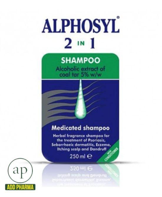 Alphosyl 2 In 1 Medicated Shampoo - 250ml