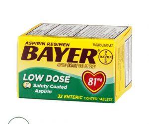 Bayer Aspirin Regimen - 81mg, 32 Coated Tablets