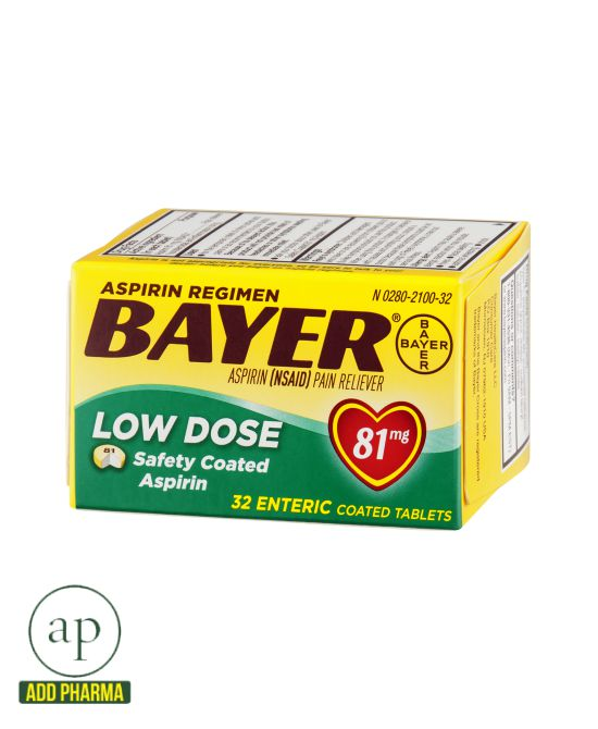 Bayer Aspirin Regimen - 81mg, 32 Coated Tablets
